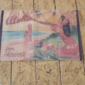 "12 x 18"" Hawaii Bamboo Placemat or wall art"